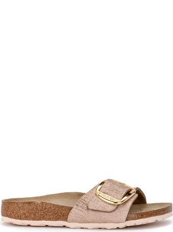 Birkenstock Madrid Big Buckle Pale Pink Laminated Leather Sandal