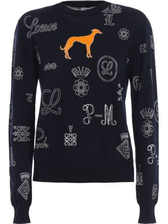 Loewe Intarsia Knitted Sweater