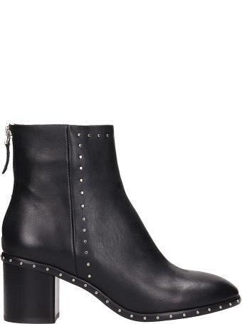 Lola Cruz Black Leather Ankle Boost