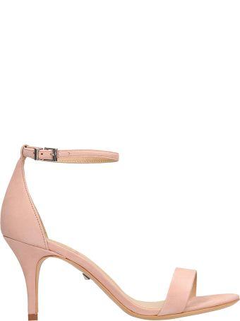 Schutz Pink Suede Leather Sandals