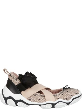 RED Valentino Ankle Tie Mesh Sneakers