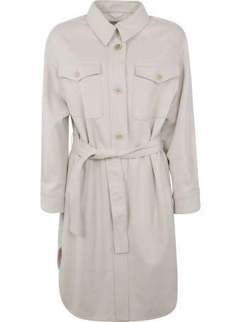Brunello Cucinelli Belted Waist Buttoned Coat