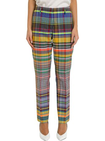 Dries Van Noten Check Trousers With High-rise