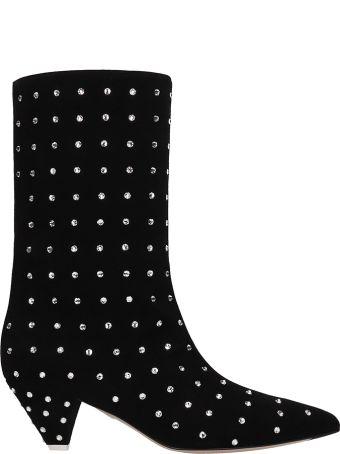 ATTICO Black Suede Sofia Boots