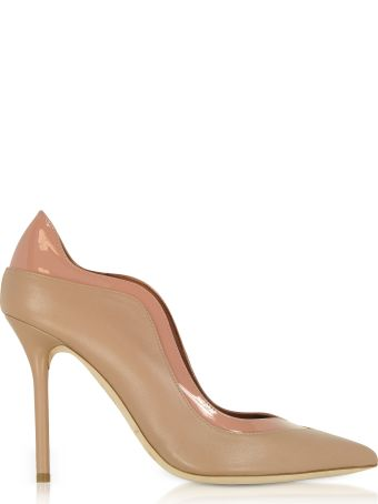 Malone Souliers Penelope Nude And Blush Nappa Leather Pumps