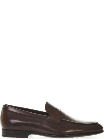 Tod's Loafers In Brown Leather