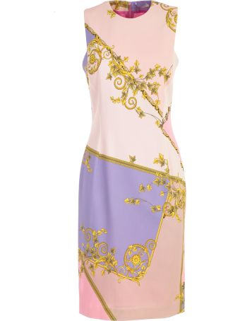 Versace Collection Eye Shadow Printed Pencil Dress