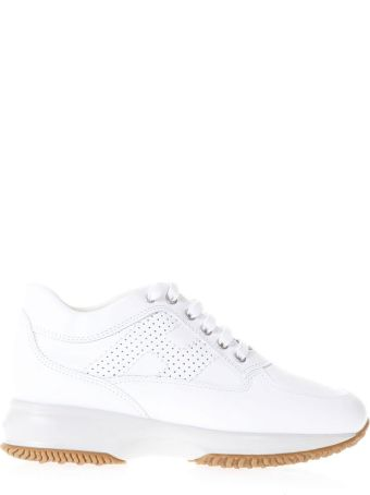 Hogan Interactive White Suede & Leather Sneakers