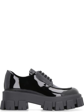 Prada Patent Leather Lace-up Derby Shoes