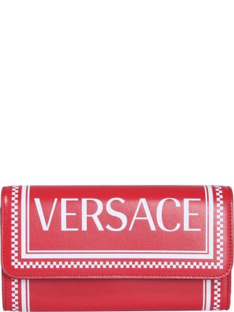 Versace Wallet With Logo Print