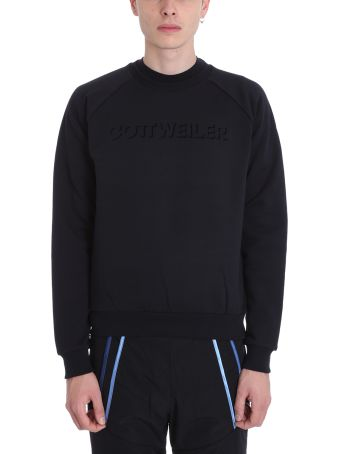 Cottweiler Logo Black Cotton Sweatshirt