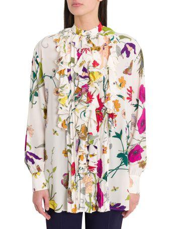 Gucci Flora Gothic Print Shirt