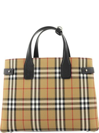 Burberry Vintage Check Banner Tote