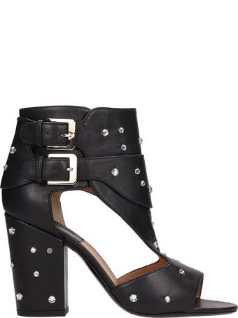 Laurence Dacade Black Leather Rush Sandals