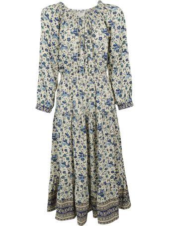 Sea Floral Print Long Dress