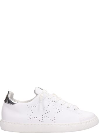 2Star White Leather Low Sneakers