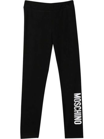 Moschino Black Leggings With Logo