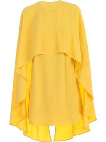 Sara Battaglia Dress Pencil W/detachable Cape