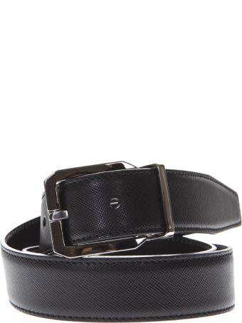 Dolce & Gabbana Black Buckle Leather Belt