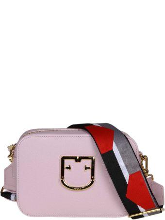 Furla Brava Shoulder In Pink Colored Leather