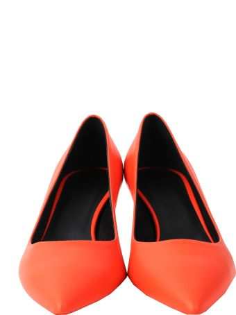 Luca Valentini Orange Fiona Pumps
