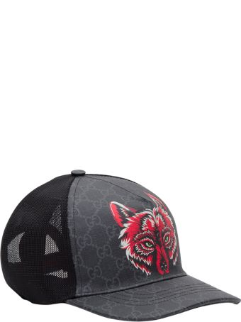 Gucci Gg Baseball Cap With Wolf