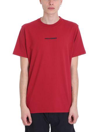 Maharishi Red Cotton T-shirt