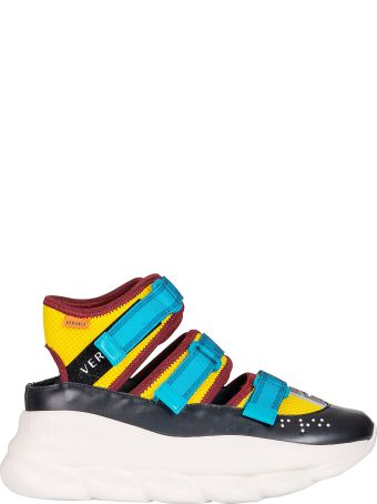 Versace Chain Reaction High-top Trim Sneakers