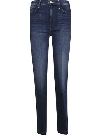 Mother Side Slit Flared Jeans