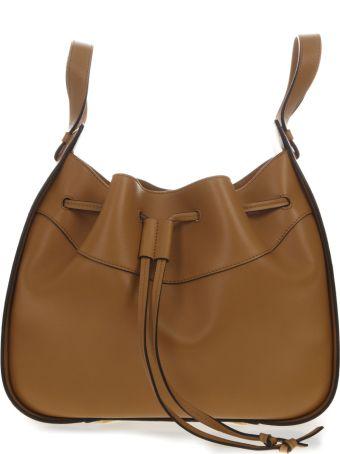 Loewe Hammock Medium Bag In Caramel  Leather