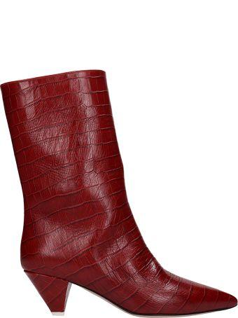 ATTICO Red Leather Boot