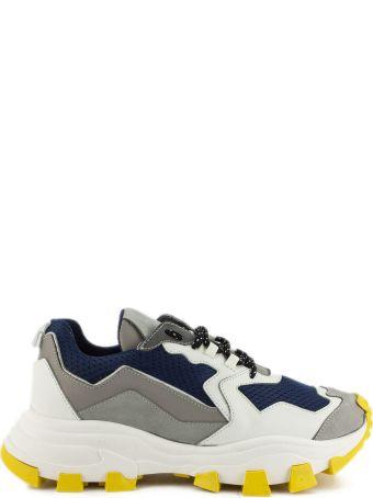 Cinzia Araia Dragon Trail Sneaker In White And Blue