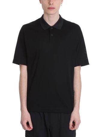 Y-3 Black Cotton Polo