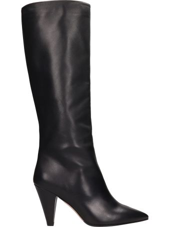 The Seller Black Leather High Boot