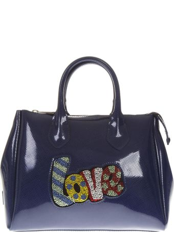 Gianni Chiarini Blue Pop Love Fourty Patent Bag