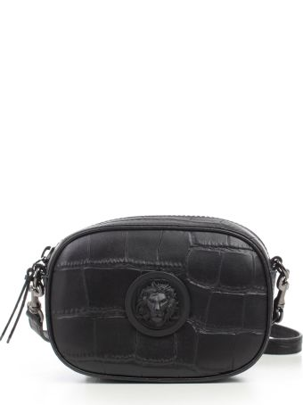 Versus Versace Lion Embossed Oval Shoulder Bag