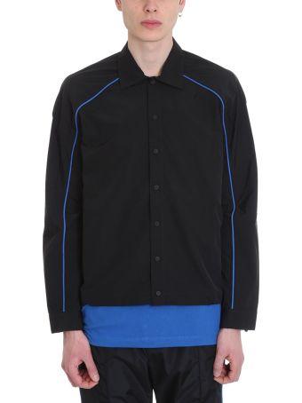 Ben Taverniti Unravel Project Black Nylon Shirt