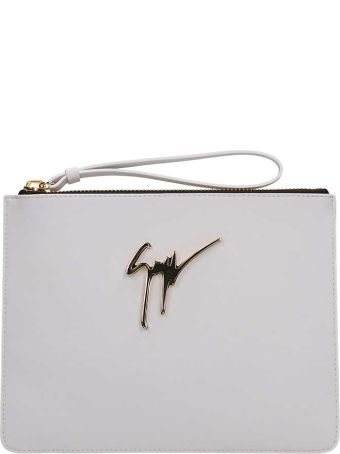 Giuseppe Zanotti Margery White Leather Pouch