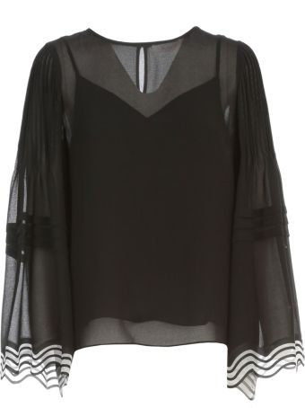 See by Chloé Sweater Wide L/s Crew Neck