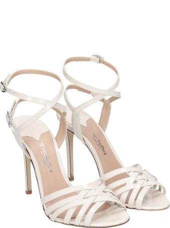 The Seller Sandals In Beige Patent Leather