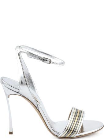 Casadei Silver-tone High-heel Barbarella Sandals