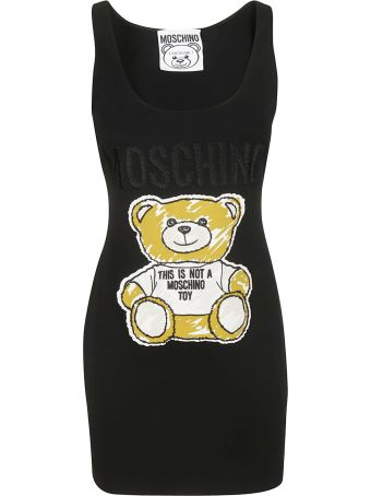 Moschino Bear-print Sleeveless Dress