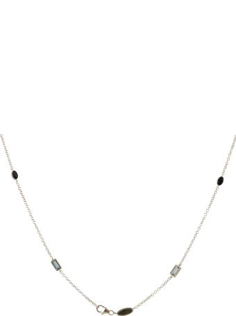 Lo Spazio Jewelry Lo Spazio Aquamarine, Blue Sapphire and Diamond Necklace