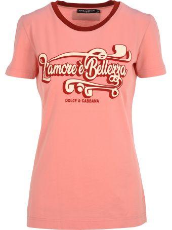 "Dolce & Gabbana Dolce&gabbana Dolce & Gabbana ""l'amore è Bellezza"" Print T-shirt"