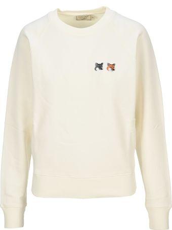 Maison Kitsuné Maison Kitsune Double Fox Head Patch Sweatshirt