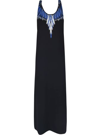 Marcelo Burlon Wing Print Long Dress