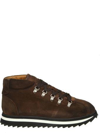 Doucal's Brown Suede Sneakers