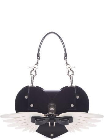 Niels Peeraer Wings Heart Bi-colour Leather Shoulder Bag