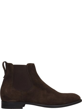 Ermenegildo Zegna Brown Suede Boots