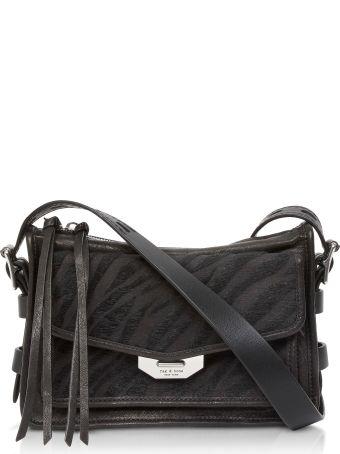 Rag & Bone Black Zebra Small Field Messenger Bag